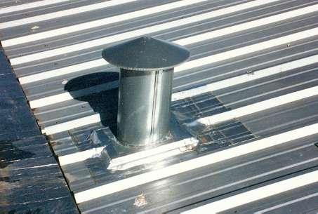 ALUMINUM QUICK PATCH is applied to chimneys and vents