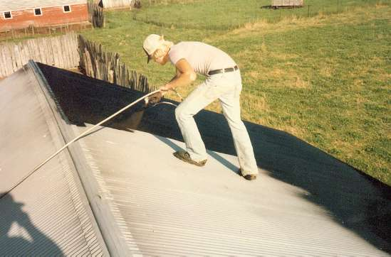 Even older, rusted metal roofs are restored to like-new brilliance with TRC roofing materials